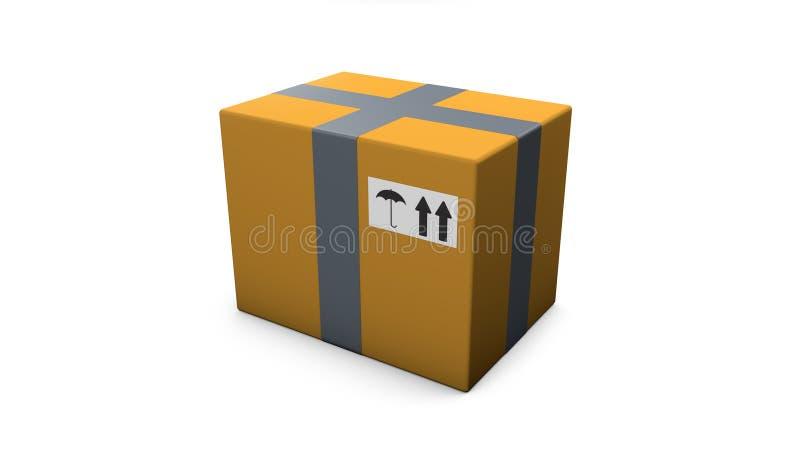 Коробка на серой предпосылке r стоковая фотография rf