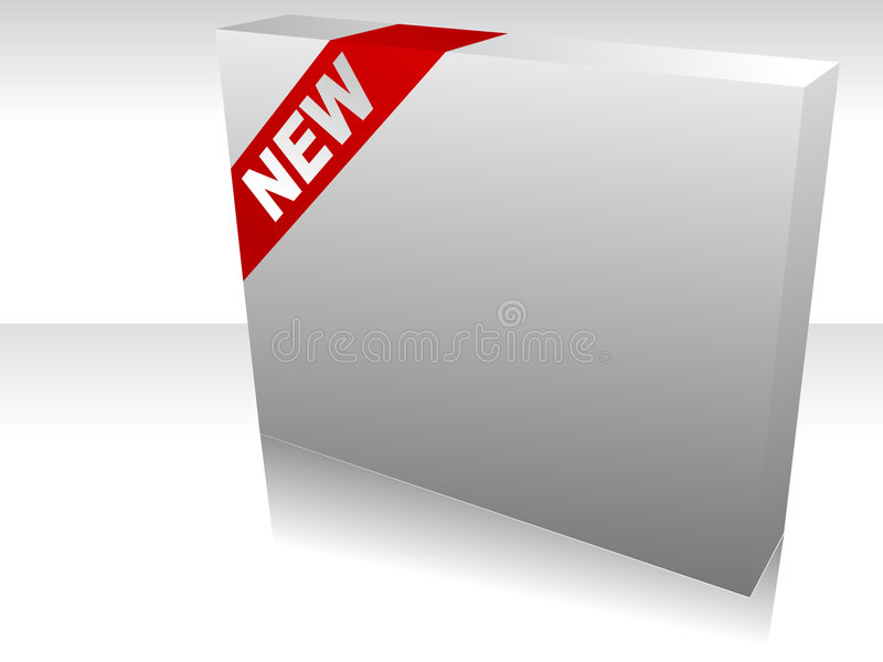 коробка новая иллюстрация штока