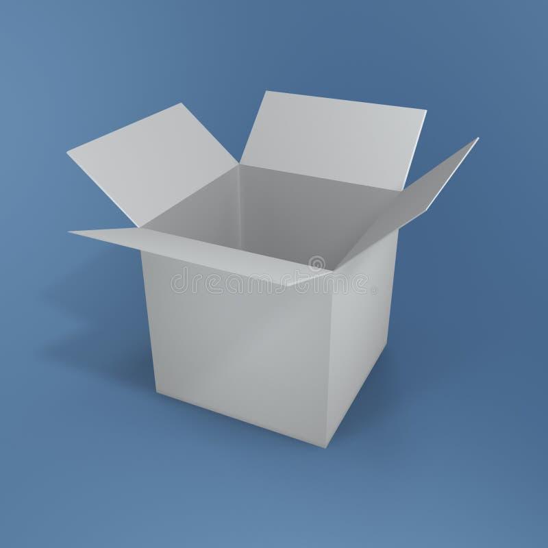 коробка открытая иллюстрация вектора