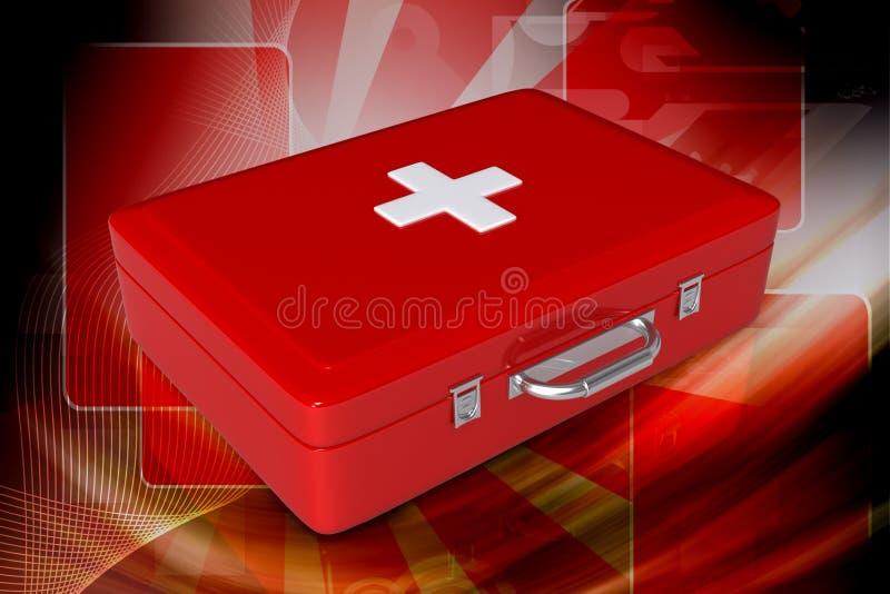 коробка первое помощи бесплатная иллюстрация