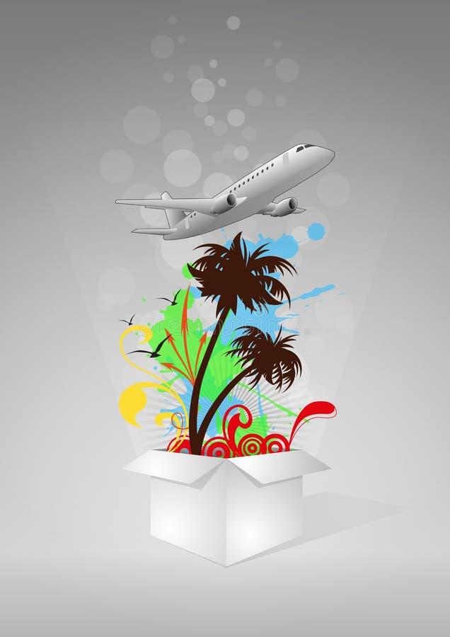 Download Коробка перемещения иллюстрация вектора. иллюстрации насчитывающей самолета - 33730909