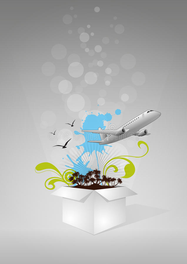 Download Коробка перемещения иллюстрация вектора. иллюстрации насчитывающей самолеты - 33730917