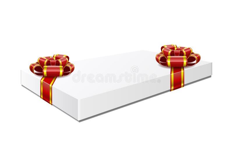Коробка подарка изолирована на белой предпосылке. иллюстрация вектора