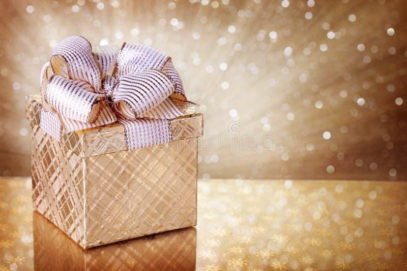 Коробка подарка рождества стоковая фотография