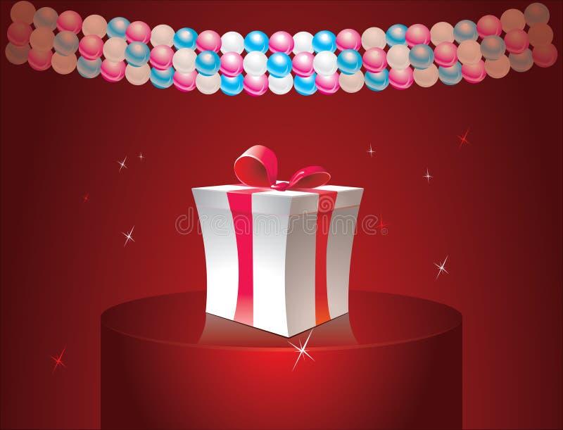 Коробка подарка иллюстрация вектора