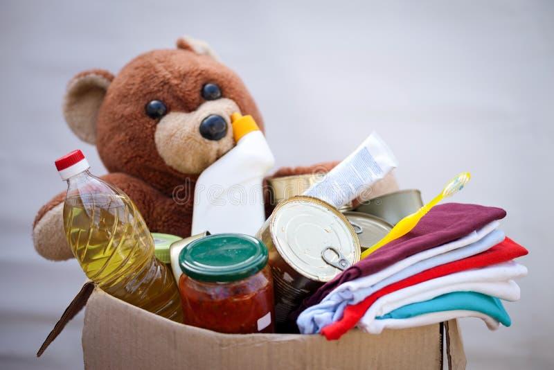 Коробка пожертвования с веществом стоковое фото