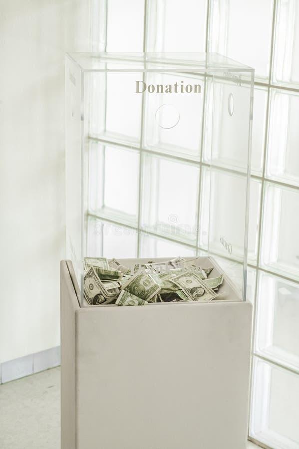Коробка пожертвования стоковые изображения rf
