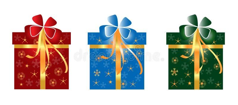 Коробка подарка рождества бесплатная иллюстрация