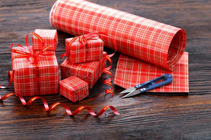 Коробка подарка рождества стоковое фото rf