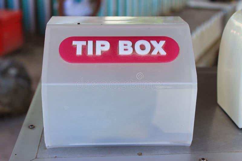 Коробка подсказки стоковое фото