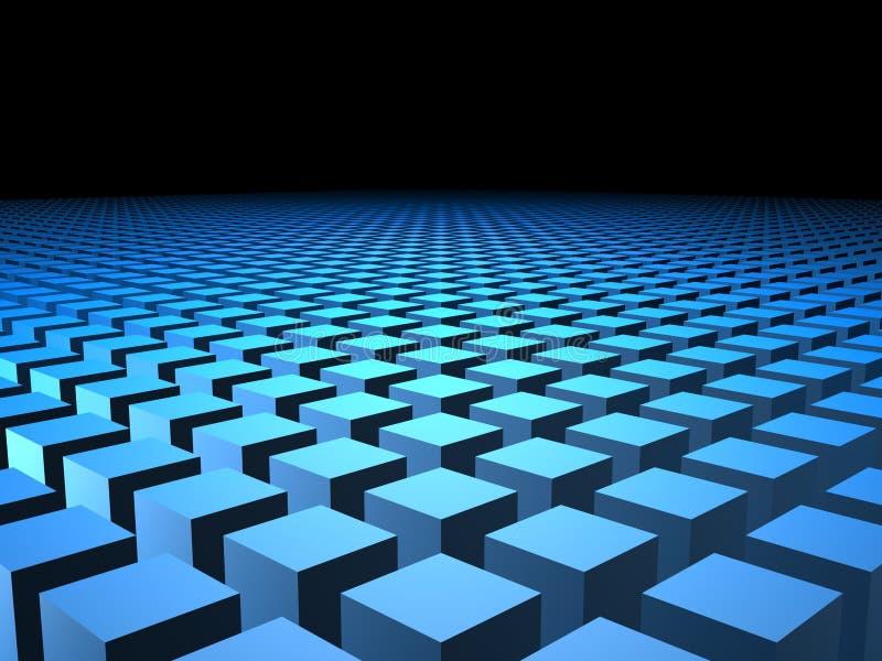 коробка предпосылки 3d кладет кубики в коробку кубика бесплатная иллюстрация