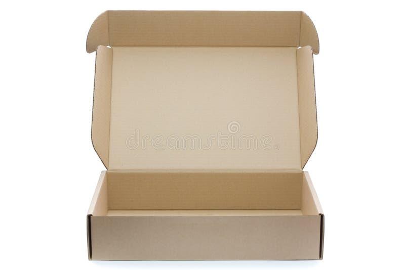 коробка пустая раскрывает стоковое изображение