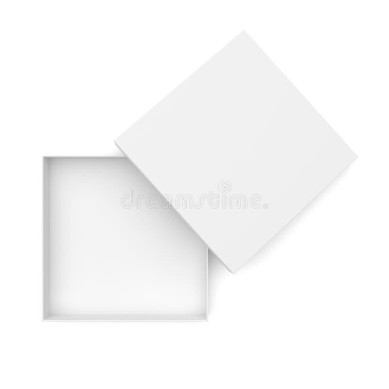 Коробка раскрытая белизной плоско иллюстрация штока