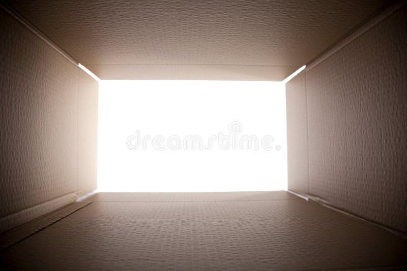 коробка смотря вне Стоковое Фото