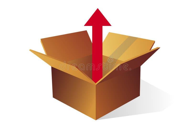 коробка снаружи иллюстрация вектора
