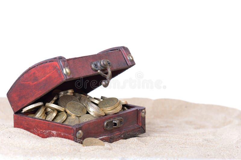 Коробка сокровища стоковое изображение