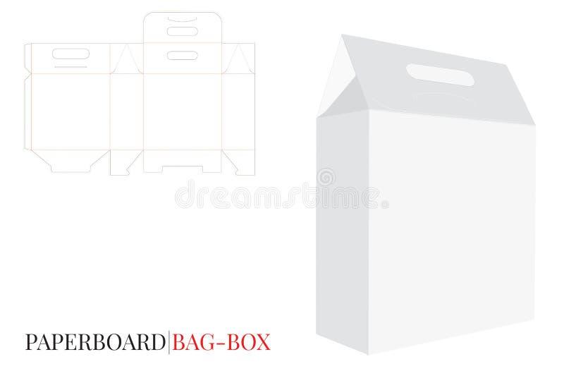 Коробка сумки с ручкой, подарочной коробкой с ручкой, коробкой рождества с ручками бесплатная иллюстрация