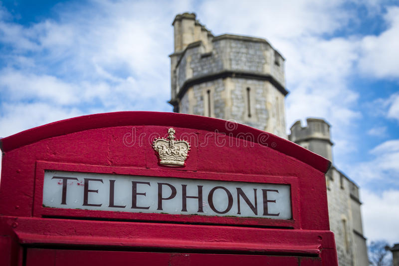 Коробка телефона Лондона стоковое изображение
