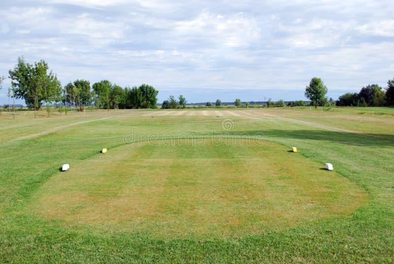 Коробка тройника поля для гольфа стоковое фото rf