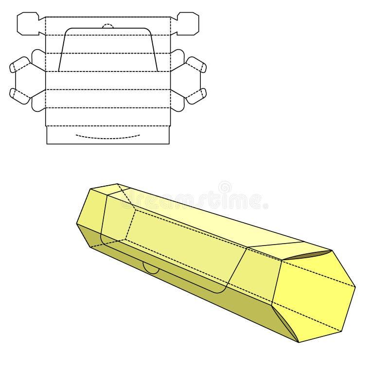 Коробка умирает отрезок иллюстрация вектора