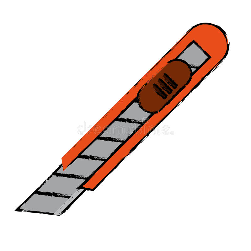 Коробка упаковки ножа резца чертежа иллюстрация штока