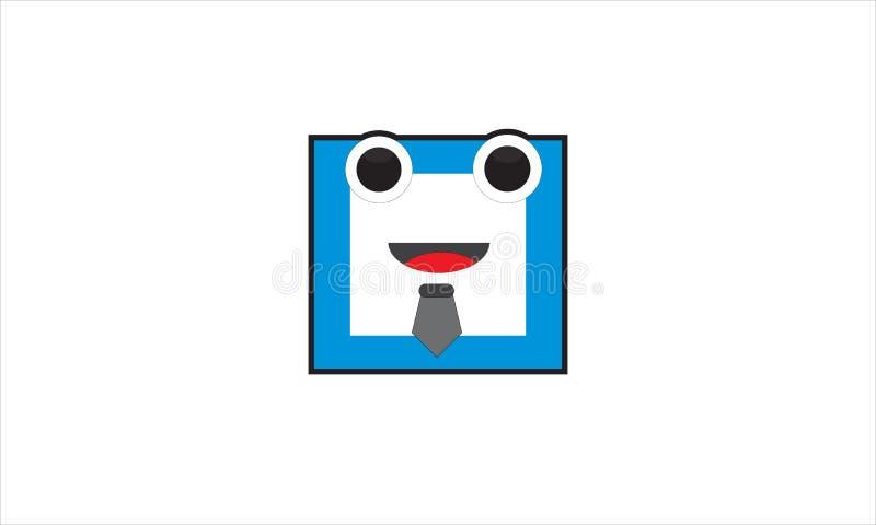 Коробка характера Vektor держит улыбку стоковые изображения