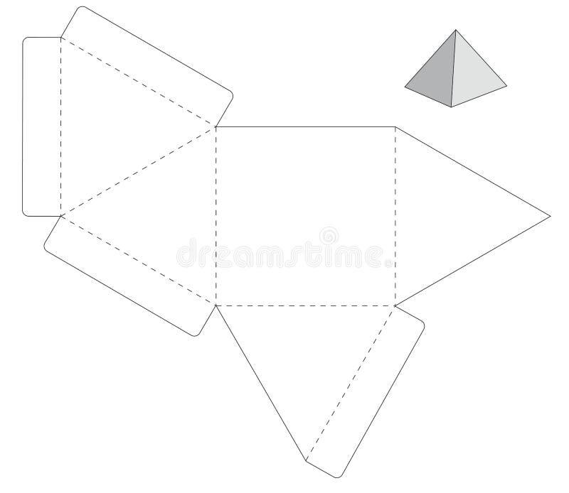 Коробка шаблона иллюстрация штока