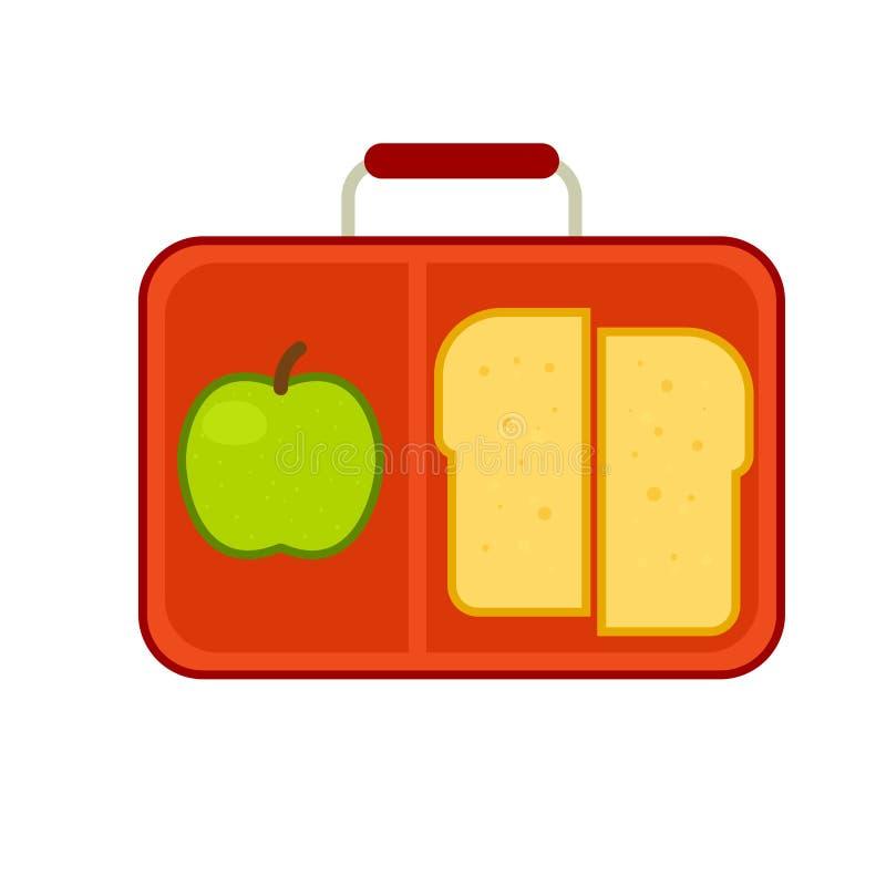 Коробка школьного обеда иллюстрация штока