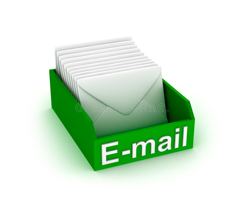 Коробка электронной почты бесплатная иллюстрация