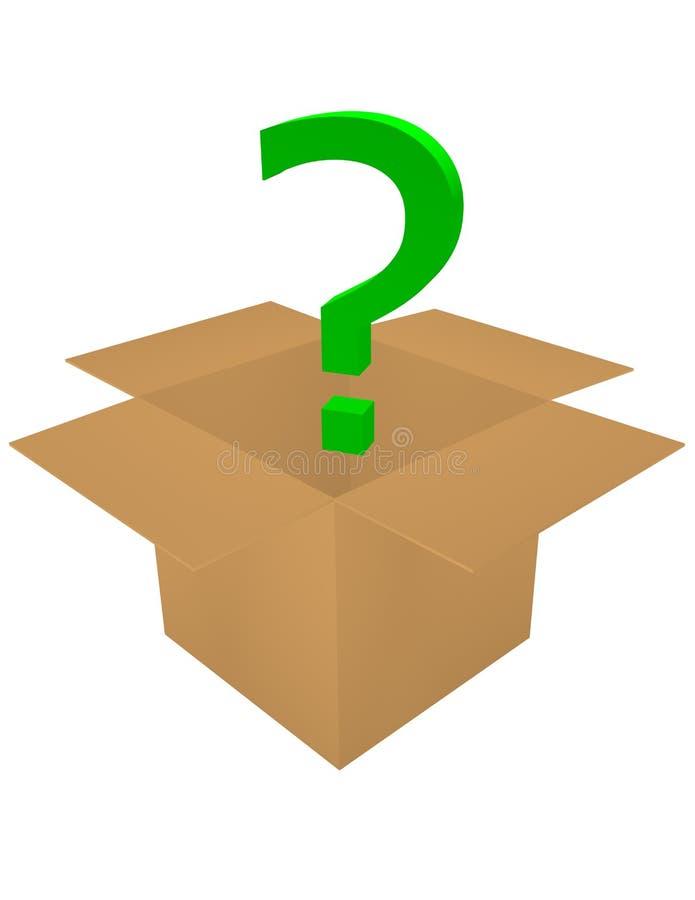 коробка 3d вне спрашивает представляет бесплатная иллюстрация