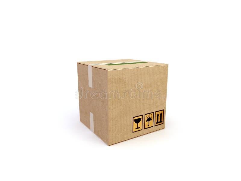 коробка 3d иллюстрация вектора