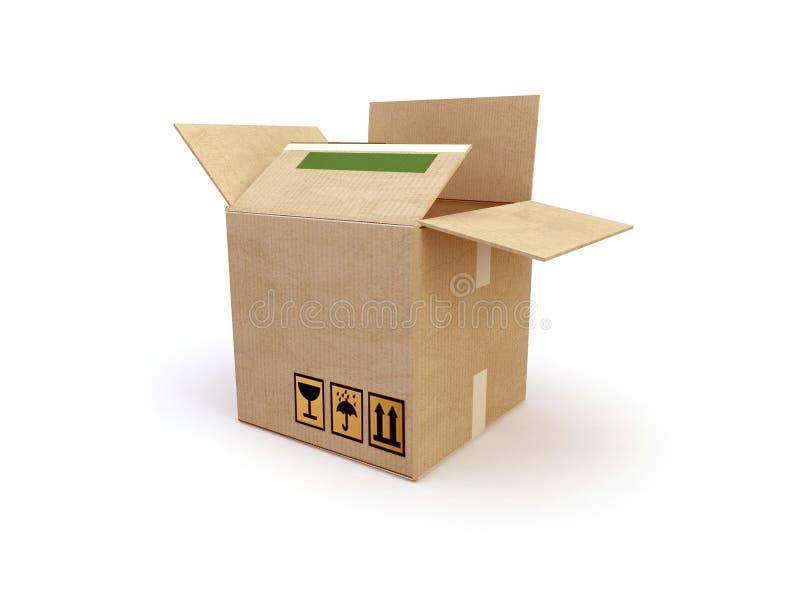 коробка 3d иллюстрация штока