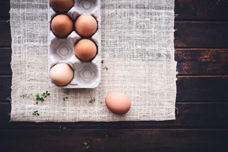 коробка eggs свежая стоковая фотография rf