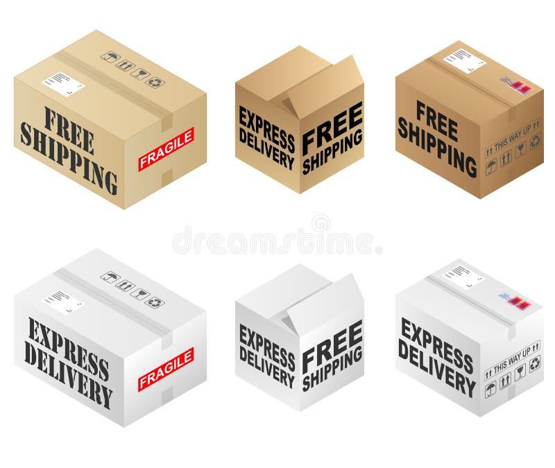 Коробки бесплатной доставки бесплатная иллюстрация