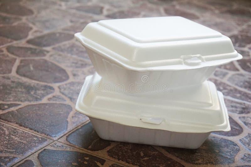 Коробки для завтрака Styroform стоковая фотография rf