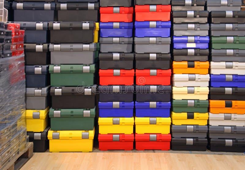 Коробки инструментов стоковые фото