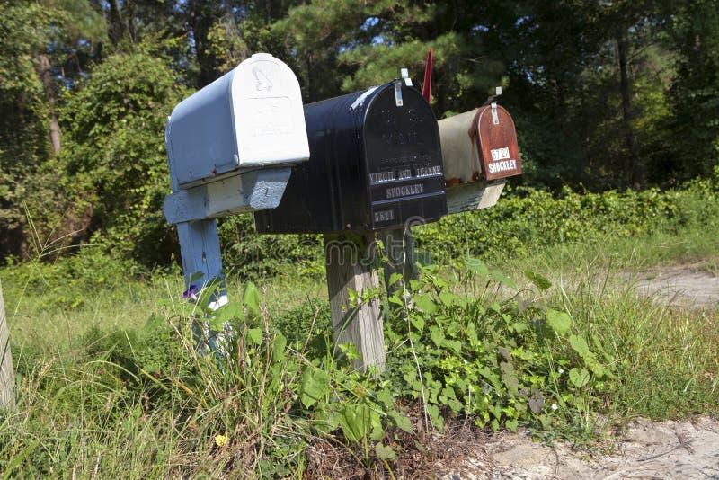Коробки почты, Чесапик стоковое изображение