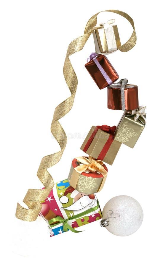 Коробки подарков на одине другого стоковая фотография