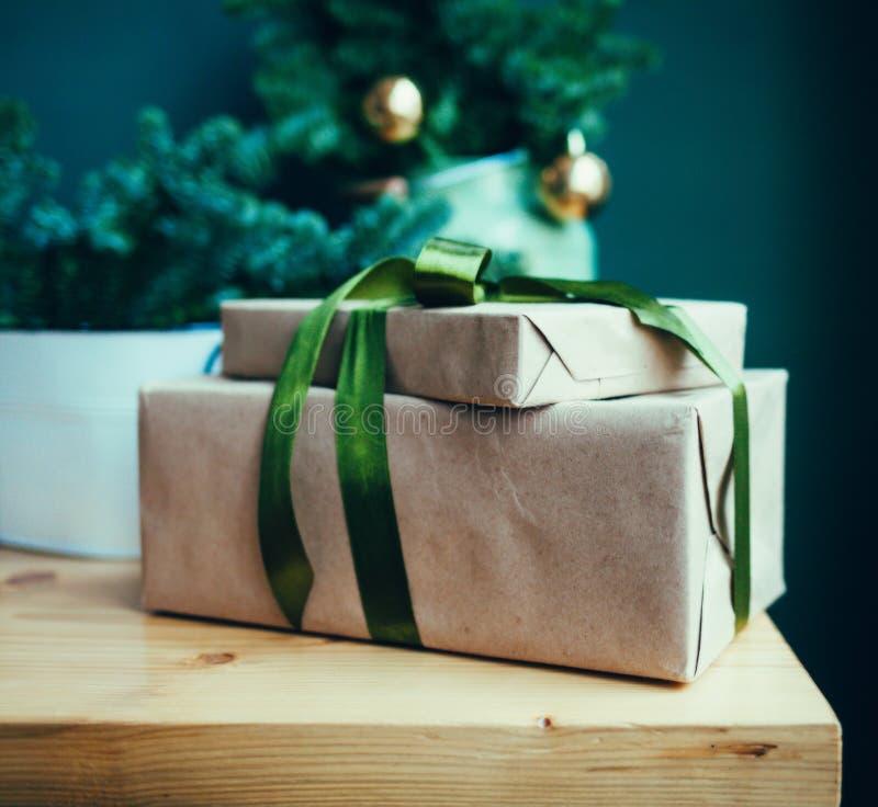 Коробки рождества праздничные стоковое изображение rf