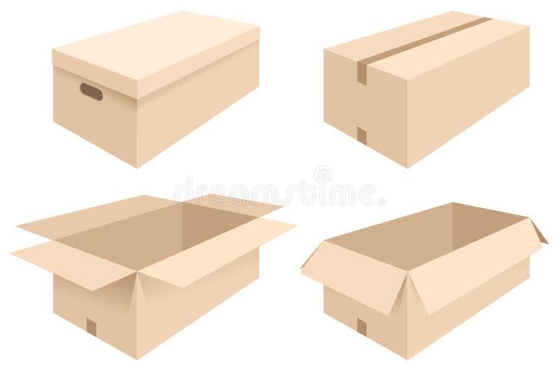 Коробки иллюстрация штока