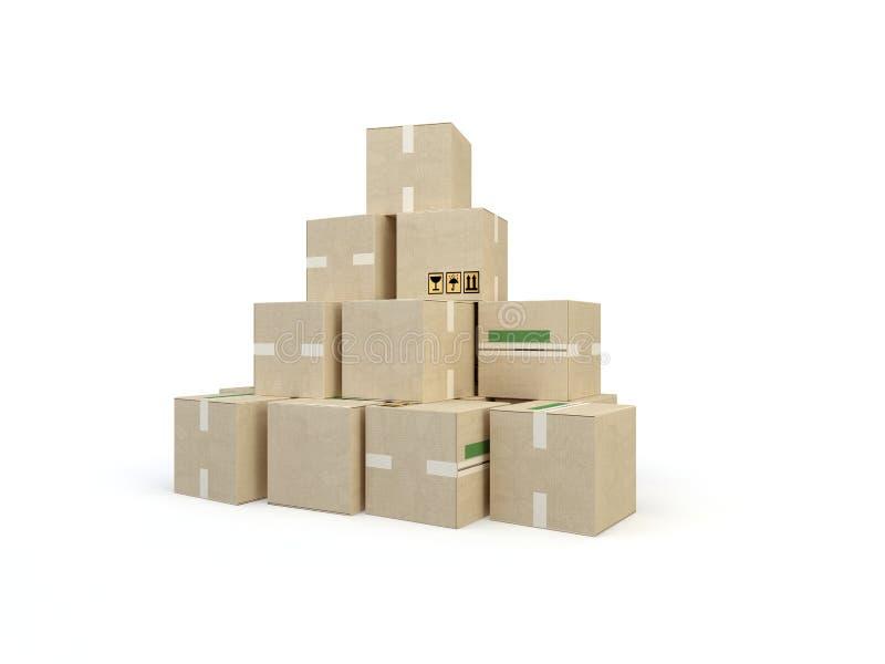 коробки 3d бесплатная иллюстрация