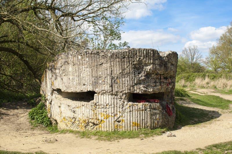 Коробочка для таблеток бункера на Первая мировой войне холма 60 стоковое изображение
