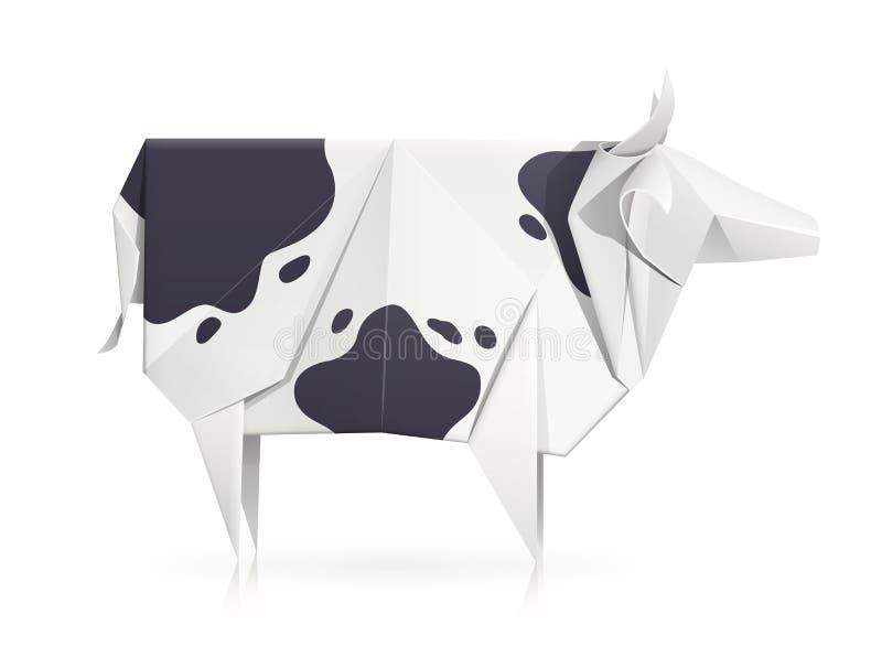 Корова Бумажная игрушка origami Handmade продукт бесплатная иллюстрация