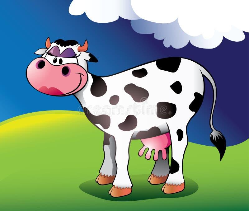 корова довольно иллюстрация штока