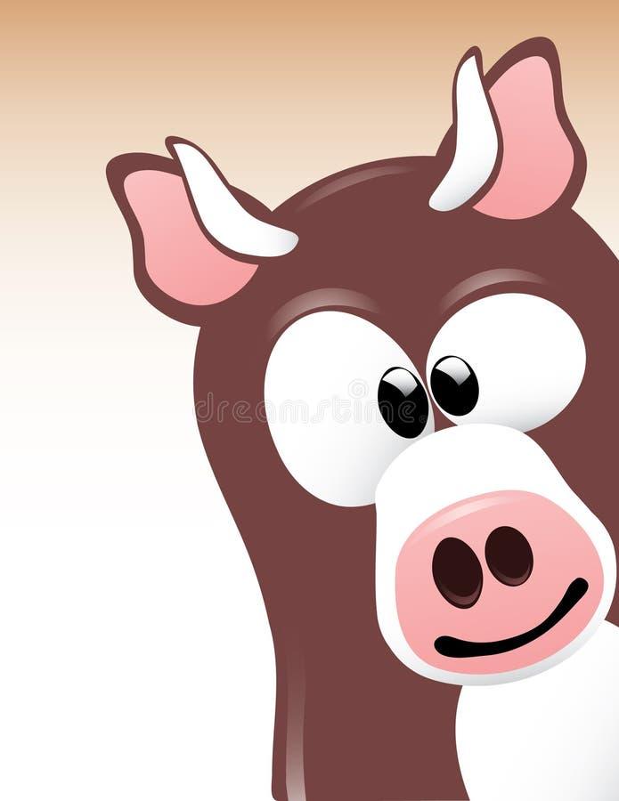 корова милая стоковая фотография