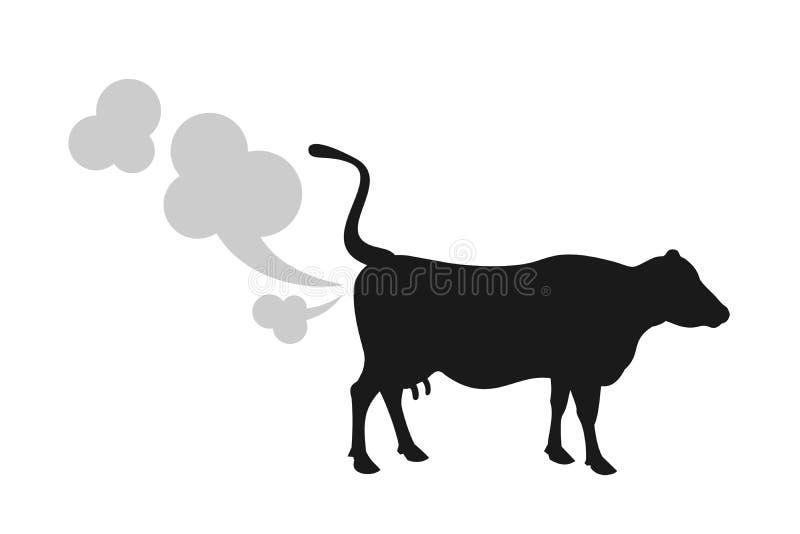 Корова пукает иллюстрация вектора