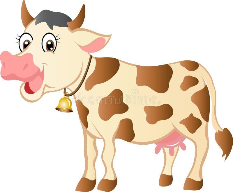 Корова шаржа иллюстрация вектора