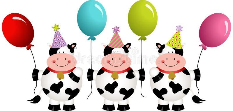 Картинки с коровами с днем рождения