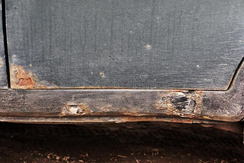 Корозия на старом автомобиле стоковые фотографии rf