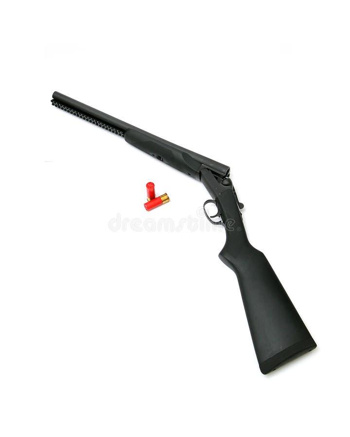 корокоствольное оружие бочонка двойное стоковые изображения rf